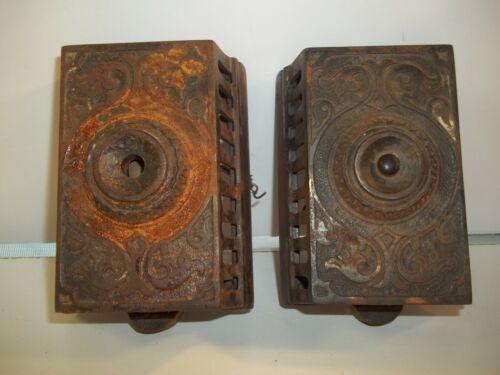 2 Antique Eastlake style Electric Door bells for restore