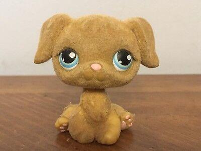 Littlest Pet Shop LPS #320 Golden Retriever Puppy Dog Fuzzy Preowned
