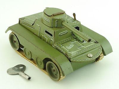 Gescha 65-4-W Panzer Manövrier Tank Blechspielzeug Uhrwerk 1604-12-84