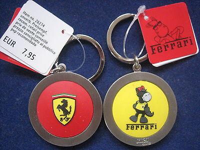 Mds Nici Original 2X Llavero Ferrari Caballo, Amarillo y Rojo