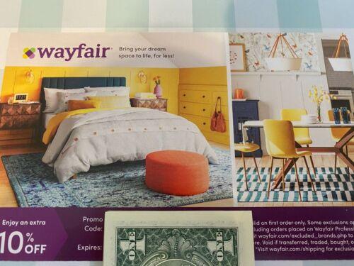 WAYFAIR ~ wayfair.com ~ 10% off FIRST ORDER Coupon....Expires 6/14/21 ~ Save $$$