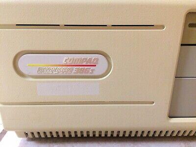 Vintage Compaq Deskpro 386s Retro Desktop Computer 2mb Boot To Dos Lots Games