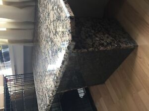 Solid granite coffee table