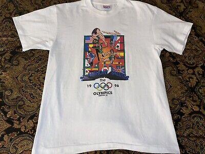 Vintage 1996 Olympics New Orleans Louisiana St. Anthony Gretna Shirt Men's Large image