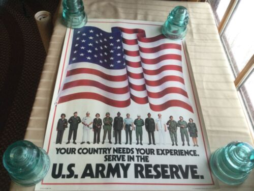 Vintage 1981 U.S. Army Reserve Poster Original US Government Printing NOS