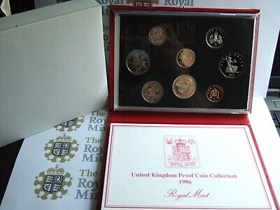 Deluxe Wallet Set (NEW 1986 (A) DELUXE Royal Mint UK PROOF Coin Set RED Leather Wallet!     )