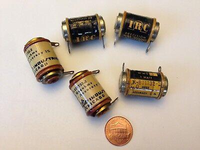 5 Vintage 1.0 M Ohm 1 Irc Precision Wire Wound Resistors Tube Amplifier Audio