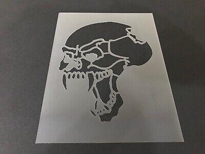 Skull #19 Stencil 10mm or 7mm Thick, Skulls, Tattoo, - Halloween Skull Stencils