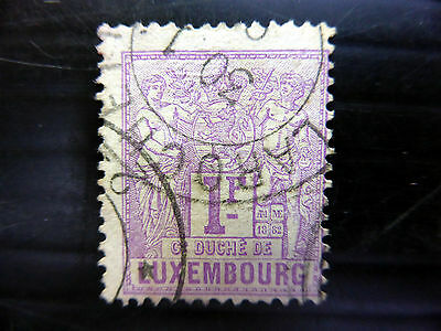 LUXEMBOURG 1882 - 1F SG91 Fine/Used Cat £250 NEW LOWER PRICE FP4444