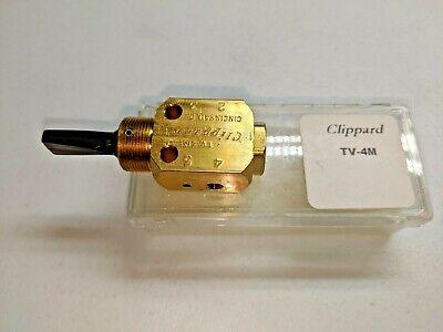 Clippard Tv-4m Plastic Toggle 3-position 4-way Valve 10-32 Ports Brass Body New