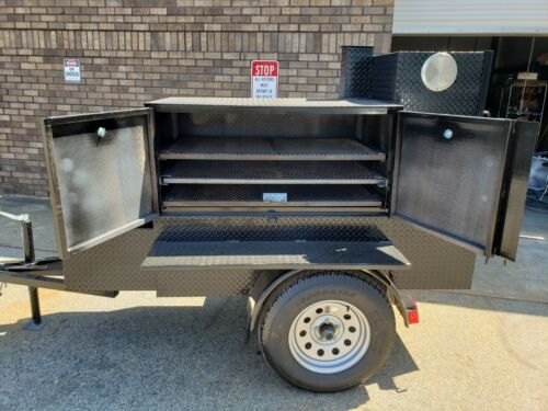 Backyarder Pro BBQ Smoker Storage Trailer Food Truck Mobile Kitchen Business