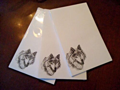 Timber Wolf 3 Notepads 50 Sheets 8.5 x 5.5 New Black & White Drawing New