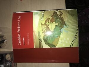 Canadian business law textbook for sale!!