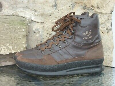 Vintage 1980s Adidas Trekking Boots UK10 Made In Yugoslavia OG 80s Winter Brown