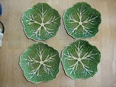 Bordallo Pinheiro Green Cabbage Salad Bowls or Soup Bowls - Set of 4