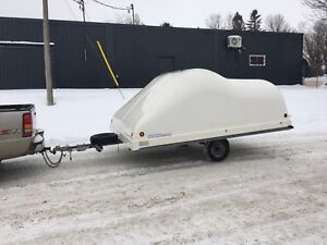 Like new Hyland 12 foot double enclosed snowmobile trailer