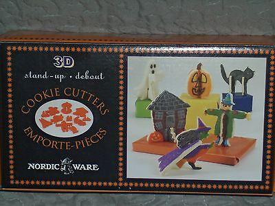 NORDIC WARE HALLOWEEN SERIES 3D STAND UP COOKIE CUTTERS 12 PIECE NORDICWARE - 3d Halloween Cookies