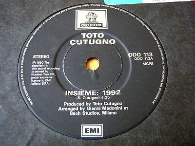 "TOTO CUTUGNO - INSIEME: 1992  7"" VINYL"