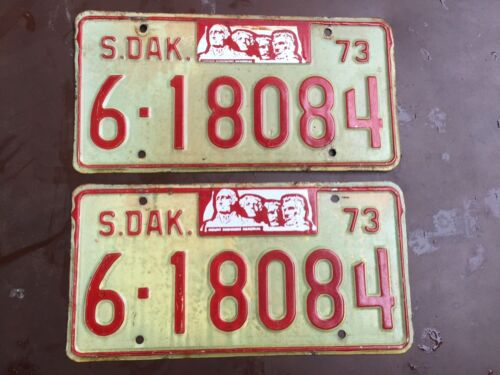 1973  Matched pair Brookings  County South Dakota  license plates