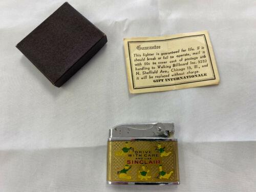 Vintage Sinclair Little Billboard Super Lighter w/ Box