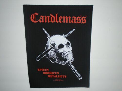 CANDLEMASS EPICUS DOOMICUS METALLICUS PRINTED BACK PATCH