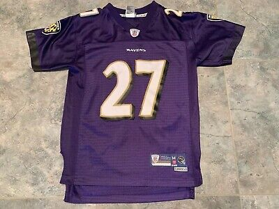 Ray Rice Baltimore Ravens #27 On Field Purple Football Jersey Youth M (10-12) Baltimore Ravens Field Football