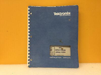 Tektronix 070-2726-01 492 Spectrum Analyzer Instruction Manual