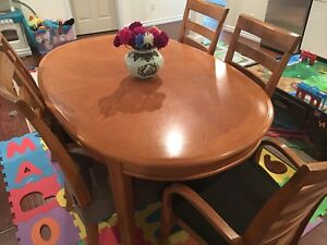Oak Dinner Table Set 99