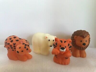 Fisher Price Little People Zoo Animals Lion Tiger Cheetah Polar Bear