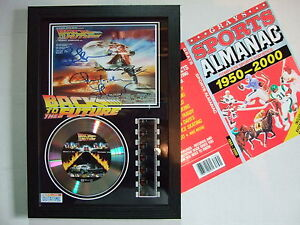 BACK TO THE FUTURE   SIGNED FILM CELL FRAMED+FREE ALMANAC  5