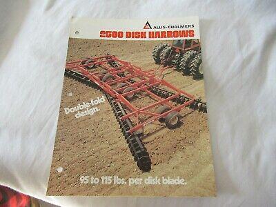 Allis-chalmers 2500 Disk Harrows Brochure
