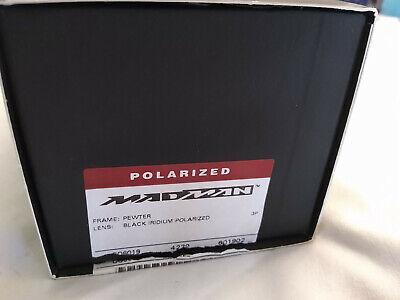 Oakley Madman Pewter / Black Iridium POLARIZED NIB -- RELISTED!!