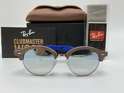 NEW Ray-Ban ClubMaster Wood Sunglasses RB4246-M 51mm SILVER GRADIENT (Ray Ban Wood Sunglasses)