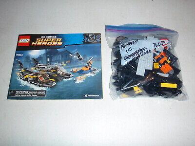 76034 LEGO Batman Batboat Harbor Pursuit Complete Deathstroke Robin