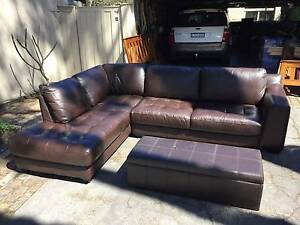 Leather Sofa - Great condition Avalon Pittwater Area Preview