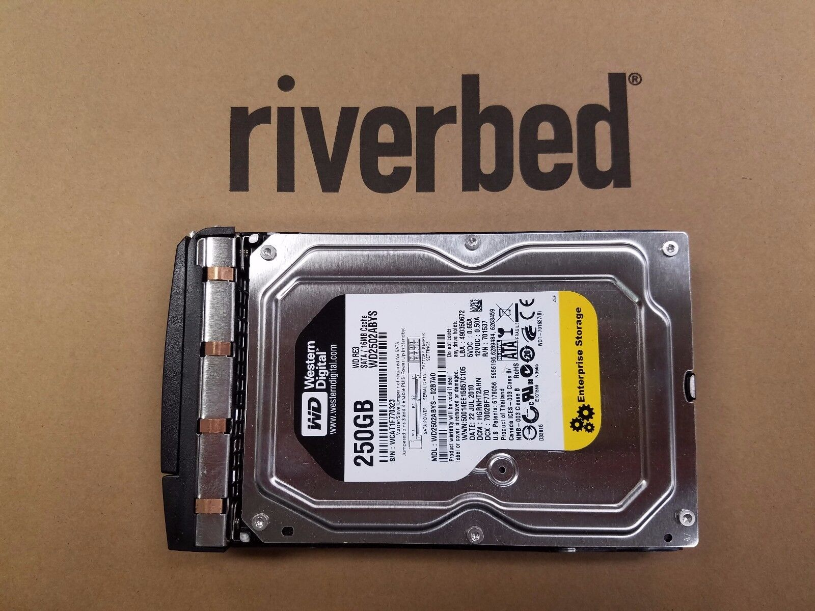 Riverbed Specialists Riverbed Steelhead HDK-250 250GB Riverbed licensed HDD