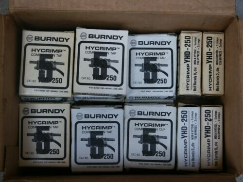 LOT- 18 New Burndy Hycrimp YHD-250 Compression Taps  -New In Box