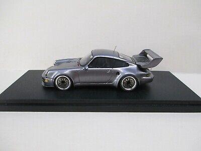 1:43 Porsche 911 Turbo-S 1993, Gunmetallmatt in Plexbox. Renaissance. no BBR,MR