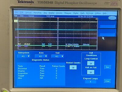 Tektronix Tds 5034b 350 Mhz 5gss Digital Phosphor Oscilloscope Options Std