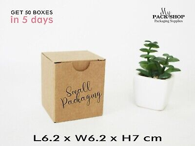 Mini Cardboard Boxes Small Shipping Mailing Gift Wrapping Box 6x6x7cm Packaging