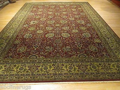 10x14 PERSIAN Antique Tabriz Vegetable  Dye Handmade-knotted Wool Rug 580290