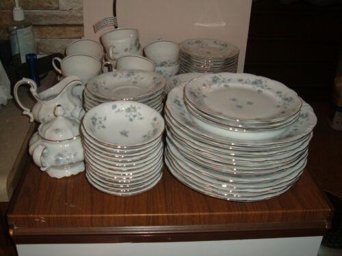 Large Lot of Haviland Blue Garland China Incomplete Serve for 12 BAVARIA
