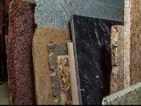 Vaste choix de retailles de granit et de quartz en inventaire!