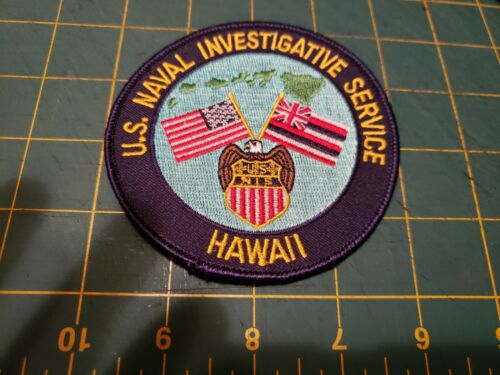 STATE OF HAWAII SHERIFF POLICE PATCH US NAVAL INVESTIGATIVE SERVICE NCIS NIS HI