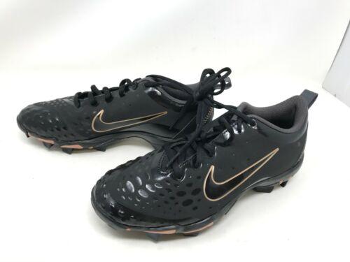 Womens Nike (AR0996-009) Hyperdiamond 2.5 Keystone blk/gold Softball Cleats (7T)