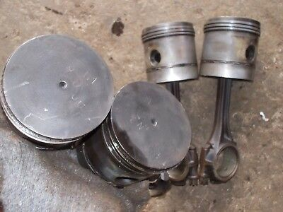 Massey Harris 101 Tractor Original Mh 4 Engine Motor Piston Pistons Rods Rod