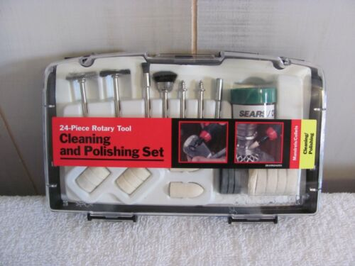 Sears Craftsman 24 pc. Cleaning & Polishing Set for Rotary Tools  NEW in case