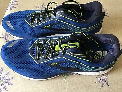 Men's Brooks Ghost 12 Running Shoes size 9.5 Teal/Lemon