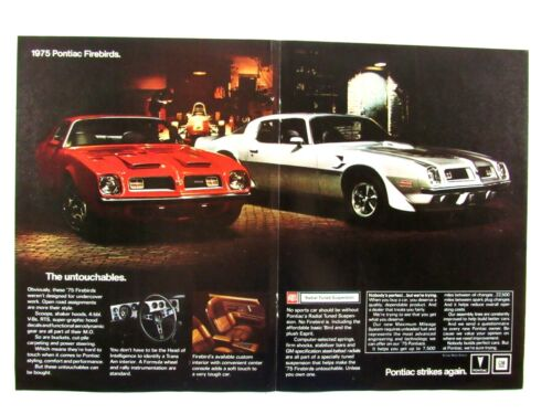 1975 Pontiac Trans AM And Formula Original Centerfold Print Ad 17 x 11""