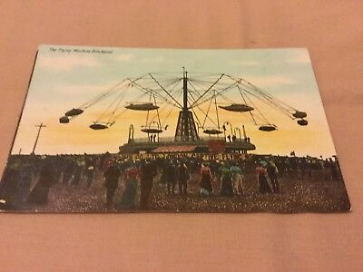 Old Postcard  Blackpool The Flying Machine Old Flying Machine